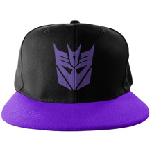 TRANSFORMERS: Decepticon Embroidered Snapback Cap