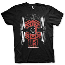STAR WARS: First Order Distressed Unisex T-Shirt (Black) (XXL)