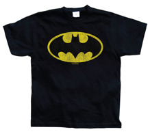 BATMAN: Batman Distressed Logo Unisex T-Shirt (Black)