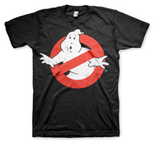 GHOSTBUSTERS: Ghostbusters Distressed Logo Unisex T-shirt (Black)