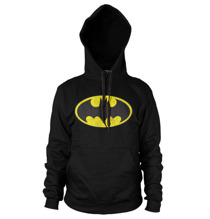Batman Distressed Logo Hoodie (Black)