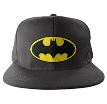 Batman Signal Logo Embroidered Snapback Cap