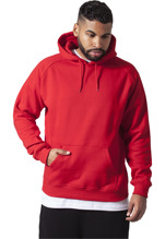 Urban Classics: Blank Hoody urban fit - red (3XL)