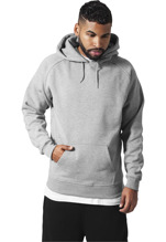 Urban Classics: Blank Hoody urban fit - grey (XL, 2XL)