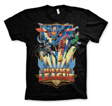 Justice League - Team Up! Unisex T-Shirt (Black) (S)