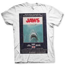 Jaws Vintage Original Poster T-Shirt (White)