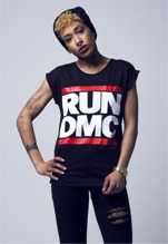 Ladies Run DMC Logo Tee - black