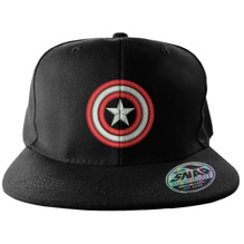 Captain America Shield Snapback (Black)