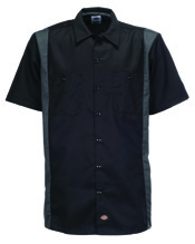 Dickies Two Tone Work Shirt - black/charcoal (M)