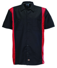 Dickies Two Tone Work Shirt - black/english red (L, 3XL)
