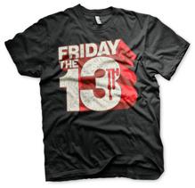 Friday The 13th Block Logo T-Shirt (Black)