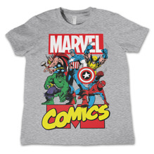 Marvel Comics Heroes Kids T-Shirt (H.Grey)