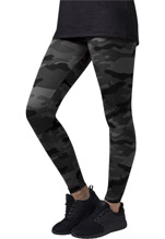 URBAN CLASSICS Camo Leggings - dark camo