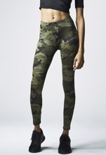 URBAN CLASSICS Camo Leggings - wood camo