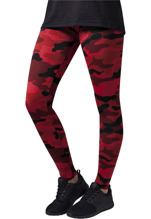 URBAN CLASSICS Camo Leggings - red camo