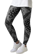 URBAN CLASSICS Bandana Leggings - black/white