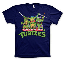 TEENAGE MUTANT NINJA TURTLES: Distressed Group T-Shirt (Navy)