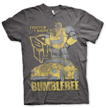 TRANSFORMERS: Bumblebee Distressed Unisex T-Shirt (D.Grey) (S)
