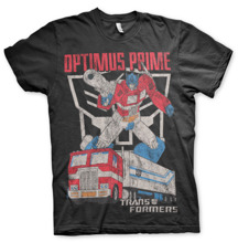 TRANSFORMERS: Optimus Prime Distressed Unisex T-Shirt (Black)