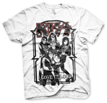KISS: I Love It Loud T-Shirt - white