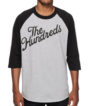 The Hundreds: Forever Slant Logo Raglan T-shirt - heather grey/black