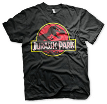 JURASSIC PARK: Distressed Logo Unisex T-Shirt (Black)