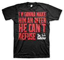 The Godfather - I´m Gonna Make Him An Offer Unisex T-shirt (Black) (3XL)