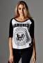 Ramones: Ladies Ramones Circle Raglan Tee - white/black (XS)