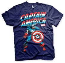 MARVEL´S AVENGERS: Captain America T-Shirt (Navy)