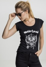 Motörhead: Ladies Motörhead Logo Cutted Back Tee - black