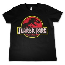 JURASSIC PARK Distressed Logo Kids T-Shirt (black) (10 år)