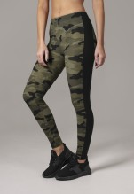 URBAN CLASSICS Camo Stripe Leggings - wood camo/black