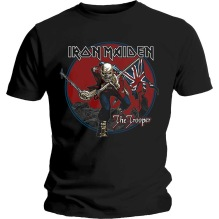 Iron Maiden: The Trooper Red Sky Unisex T-shirt - black