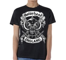 MOTÖRHEAD: Crossed Swords England Crest Unisex T-shirt - black