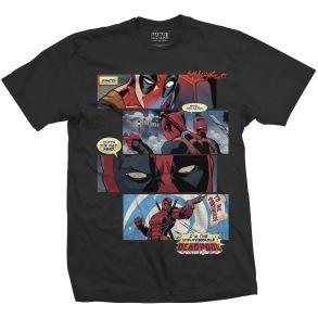 MARVEL: Deadpool Strips Unisex T-shirt (black)
