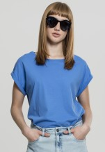 Urban Classics: Ladies Extended Shoulder Tee - horizonblue