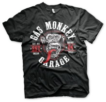 Gas Monkey Garage - Round Seal Unisex T-Shirt (Black) (L, XXL)