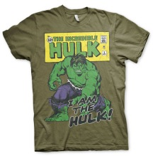HULK: Distressed I Am The Hulk Unisex T-Shirt (Olive)