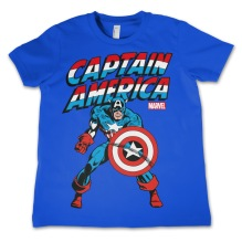Captain America Kids T-Shirt (Blue)