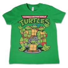 TEENAGE MUTANT NINJA TURTLES: Group Kids T-Shirt (Green)