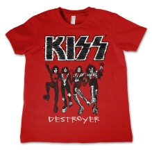 KISS Destroyer Kids Tee (Red) (12 år)