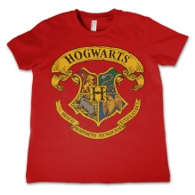 Harry Potter: Hogwarts Crest Kids T-Shirt (Red)