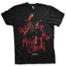 A Nightmare On Elm Street: Here I Come Unisex T-Shirt (Black)