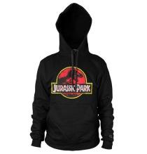 JURASSIC PARK: Distressed Logo Hoodie (Black)