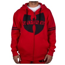 Wu-Wear: Wu-Tang Clan Logo 36 Zip Hoodie - red/black