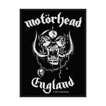 MOTÖRHEAD: England Standard Patch (tygmärke)