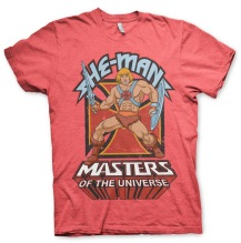 Masters Of The Universe - He-Man Unisex T-Shirt (Red Heather)