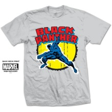 MARVEL: Black Panther Unisex T-shirt (H.Grey)