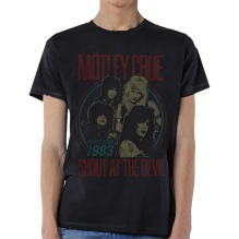 Mötley Crue: Vintage World Tour Devil Unisex T-shirt (black)