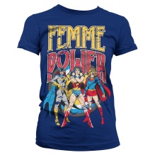 DC Comics: Femme Power Girly Tee (navy) (S)